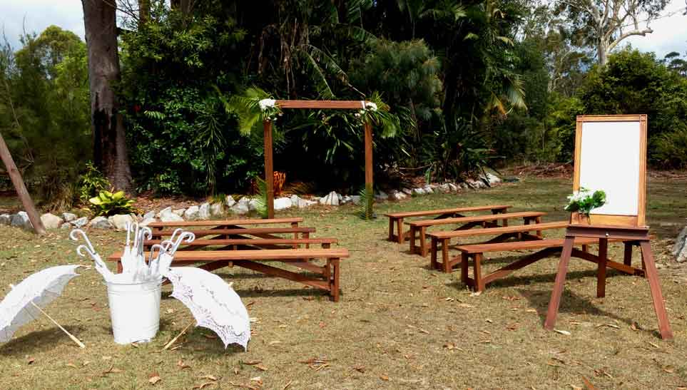 wedding package bench seat