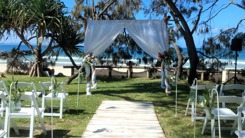 wedding hire package noosa